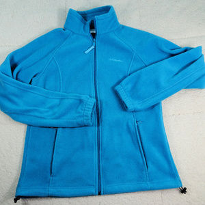 Columbia Blue Fleece Women's Jacket Large